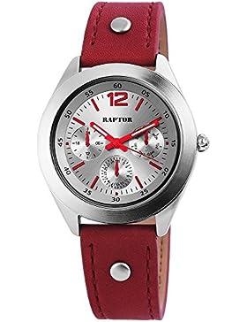 Raptor Damen Armbanduhr Analog Quarz Bordeaux Rot 197821500027, 3
