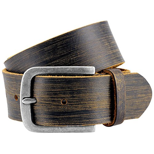 Pierre Cardin leather belt for Men/Mens full grain leather belt, black, Farbe/Color:noir, Size:110