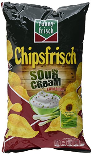 funny-frisch Chips Sour Cream und Wild Onion 175 g, 10er Pack (10 x 175 g)