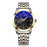 WFL Herrenuhr aus Edelstahl, leuchtende Uhr für Unternehmen, automatische mechanische Uhr wasserdicht,7,cm