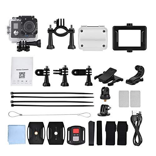 Wolfgo Sportkamera-4K 30fps DV Outdoor Sports Action Kamera WiFi Wasserdichter Videorecorder mit Fernbedienung 30fps Video