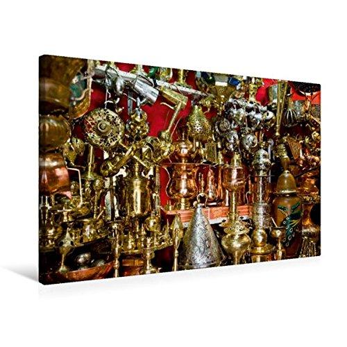 Calvendo Premium Textil-Leinwand 75 cm x 50 cm quer, Opulente Pracht im Souk von Marrakesch.   Wandbild, Bild auf Keilrahmen, Fertigbild auf echter Leinwand, Leinwanddruck Orte Orte