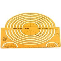 Gazechimp Regla de Plantillas de Grande Elipses Isométricos de Plástico Accesorios de Dibujos