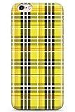 iPhone 6 Plus Designer Jaune Carreaux en Gel de Silicone TPU Mince Souple Coque Vérifié Tartan Tweed Patterned À Carreaux