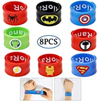 Slap Bracelets pour enfants Party Supplies Favors Boy's Bracelet Accessoires Dragonne Cadeau Fournitures 8 PCS