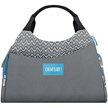 e1f3a03698 Badabulle Multipocket Changing Bag, Grey: Amazon.co.uk: Baby