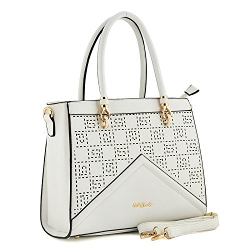 Sally-Young-Top-Handled-Tote-With-Lazer-Cut-Checker-Board-Effect