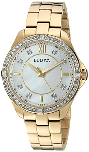 Bulova Women's Quartz Stainless Steel Casual Watch, Color:Gold-Toned (Model: 98L230)