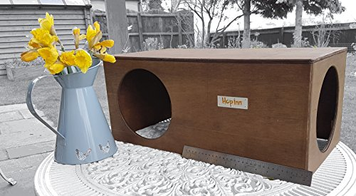 Hop Inn Rabbit Hide House (Sage) LARGE Indoor or Outdoor, Cat Hide, for Big Rabbits and Cats too, READY MADE and Built… 3