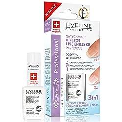 Eveline Cosmetics Vernis à Ongles thérapie Après-shampooing blanchissant pour ongles manucure 3en 1contre les décolorations 12ml