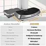ANCHEER 3D Vibrationsplatte Oszillierend JF-C04, Vibrationsgeräte Fitness mit Dual-Motoren, einmaligen Curved Design, Color Touch Display, inkl. Trainingsbänder, Fernbedienung - 2