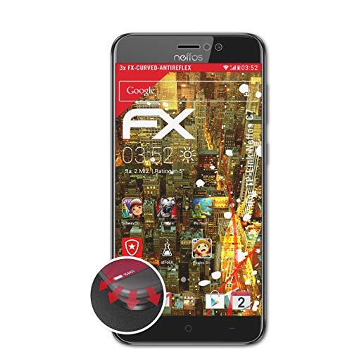 atFolix Schutzfolie passend für TP-Link Neffos C7 Folie, entspiegelnde & Flexible FX Bildschirmschutzfolie (3X)