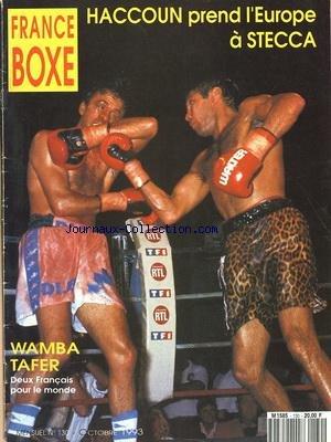 FRANCE BOXE [No 130] du 01/10/1993