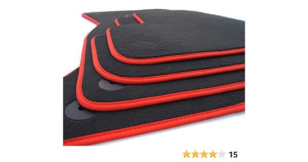 Kh Teile Fußmatten Passend Für Golf 7 Velours Autoteppich Premium 4 Teilig Schwarz Nubuk Rot Auto