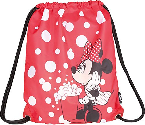 Baagl Disney Minnie Sportsack für Sport und Schule - wasserdichte Schuhbeutel, Turnbeutel für Mädchen und Damen