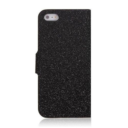 Bling magnŽtique flip en cuir PU Support Wallet Case pour iPhone 5 5S rose rouge