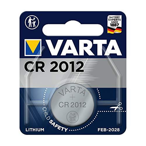 Varta Batterien Electronics CR2012 Lithium Knopfzelle 3V Batterie in Original 1er Blisterverpackung