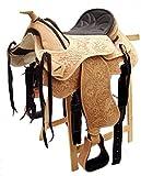 Western sella Florida in pelle di bufalo alta qualità senza albero, 40,64 cm