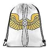 United States Army Aviation 3D Print Drawstring Backpack Rucksack Shoulder Bags Gym Bag For Adult 16.9'X14'