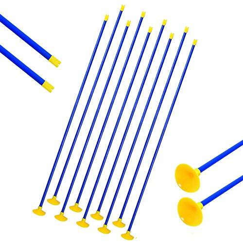 SHARROW 12/24pcs Kinderpfeile Bogenschießen Kinder Sauger Pfeile Jagd Schießspiele Simulation Pfeil Kunststoff Sucker Pfeil für Jugend Compoundbogen Recurve Bogen Pfeile Set (12) -