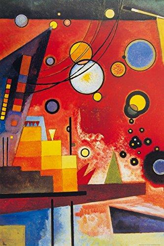 Wassily Kandinsky - Rosso Pesante, 1924 Carta da Parati Adesiva (180 x 120cm)