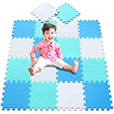 meiqicool Tappeto Puzzle con Certificato CE e Certificazione TÜV in soffice Schiuma Eva | Tappeto da Gioco per Bambini | Tappetino Puzzle