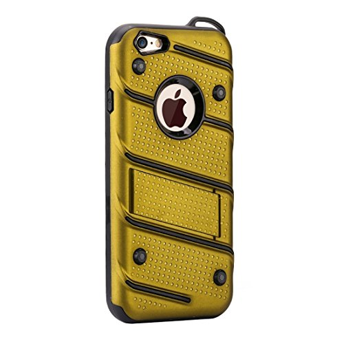 Phone case & Hülle Für iPhone 6 Plus / 6s Plus, Charm Knight Abnehmbare PC + TPU Kombination Schutzhülle mit Halter ( Color : Yellow ) Yellow