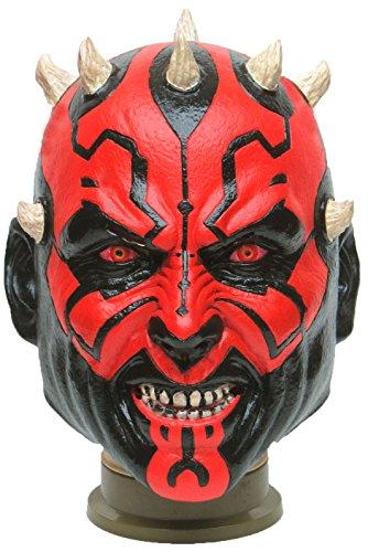 Star Wars Maske (kompletter Kopf) Kostüm - Fasching Party Karneval (Darth - Darth Maul Kostüm Maske