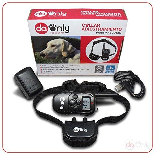Antibellhalsband ferntrainer, tierfreundliches Erziehungshalsband OHNE STROMSCHLAG, Vibrationshalsband für Hundegebell, anti-bell halsband für kleine Hunde und große Hunde Erziehungshalsband DAONLY