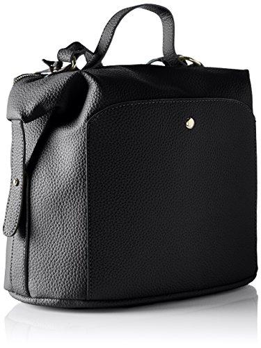 Buffalo Damen Bag S017-167a Leather Pu Schultertasche, 17x38x29 cm Schwarz (Black 01)