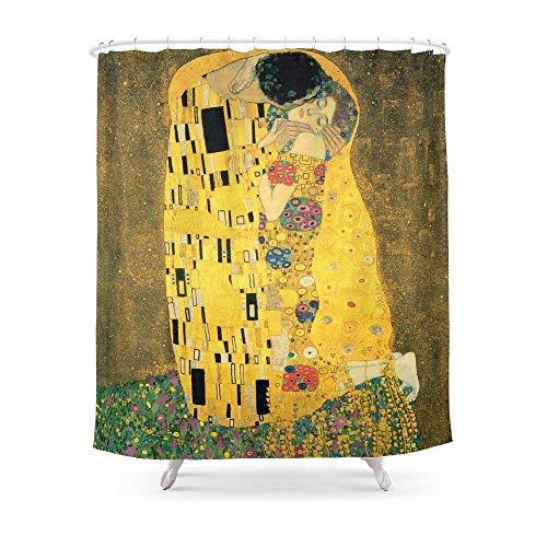 Suminla-Home bagno The kiss–Gustav Klimt tenda da doccia 182,9cm da 182,9cm