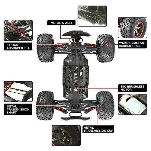 RC Auto kaufen Monstertruck Bild 2: GoStock Ferngesteuertes Auto, 1:12 Skala RC Auto Off Road Elektro Fahrzeug 2.4G Hohe Geschwindigkeit von 42 km/h Alles Gelände Ferngesteuerter Auto für Kinder Draußen*