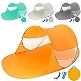 TecTake Pop Up Strandmuschel Wurfzelt 245x145x95 cm mit UV Schutz - Diverse Farben -