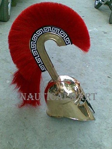 messing-griechische-korinthischer-helm-mit-lange-rot-plume-von-nauticalmart