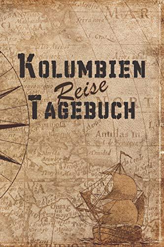 Kolumbien Reise Tagebuch: 6x9 Reise Journal I Notizbuch mit Checklisten zum Ausfüllen I Perfektes Geschenk für den Trip nach Kolumbien für jeden Reisenden