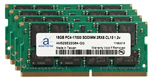 Adamanta 64GB 4x16GB Laptop Memory Upgrade for Lenovo ThinkPad P70 Mobile Workstation DDR4 2133Mhz PC4-17000 SODIMM 2Rx8 CL15 1.2v Notebook DRAM  available at amazon for Rs.62294