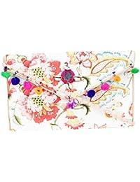Rajasthani Jaipuri Bohemian Art Sling Bag Foldover Purse - B07FN26656
