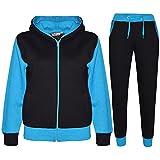 A2Z 4 Kids® Kinder Trainingsanzug Mädchen Jungen Designer Plain Kontrast - T.S Plain 101 Turquoise 9-10