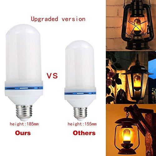 (rokoo blau LED Flamme Effekt Feuer Leuchtmittel Flamboyant Flamme Lampe Haus Partei Dekor)