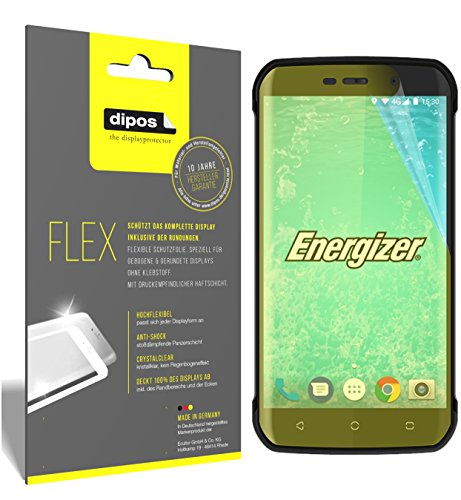 dipos I 3X Schutzfolie 100prozent passend für Energizer Hard Case H550S Folie (Vollständige Bildschirmabdeckung) Bildschirmschutzfolie