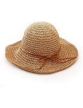 Andux STCM-01 Ala ancha paja sombreros para el sol del verano mujeres Retro viajes sombrero gorra visera de sol...