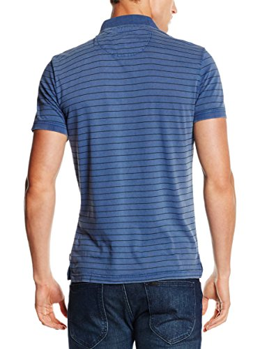 TOM TAILOR Herren Poloshirt Polo With Contrast Pocket Blau (estate blue 6845 )