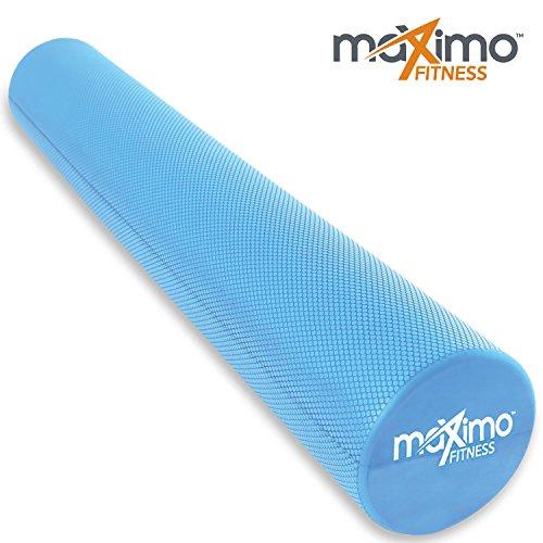 Maximo Fitness - Rouleau de mousse extra long - 6 'x 36' (15 cm x 90 cm) – Point de Déclenchement - Outil de massage parfait pour la maison, Gym, Pilates, Yoga - Instructions incluses. (Bleu - 90 cm) (Blue)