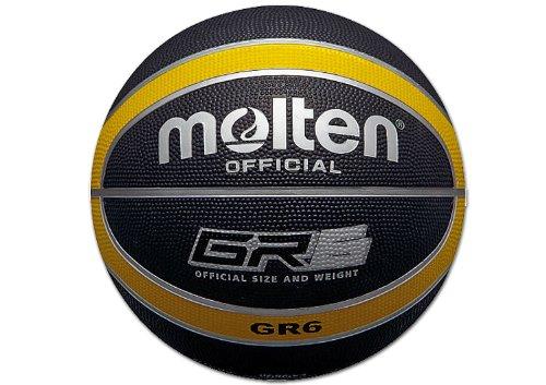 Molten Basketball, Größe 6, Schwarz/Gelb
