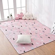 DW&HX Alfombra de algodón,Suaves acogedoras alfombras bebé arrastre tatamis anti alfombras vivero de resbalón para sala de estar dormitorio mesa cabecera mat niños dormitorio decoración-C 190x190cm(75x75inch)