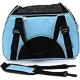 Bolsa de Transporte Perros Gatos Mascotas, Transportín con Bolsa Transporte Perro Gato, Color Azul ( M: 44*32*23cm )