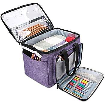 28x Useful Crochet Hooks Kit Yarn Knitting Needles Tool Grip W//Storage Bag Tools