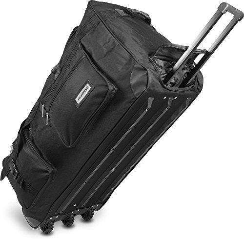 normani Reisetasche Jumbo Big-Travel mit Rollen riesige XXL Farbe Schwarz / 150 Liter