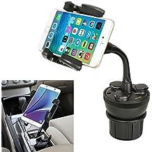 iKross IKHD28 - Soporte universal de coche con 3 enchufes y 2 USB puerto de carga 2.1A, color negro