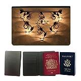 PU Pass Passetui Halter Hülle Schutz // M00155133 Kerze Kerzenleuchter // Universal passport leather cover